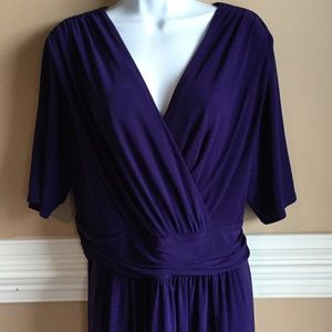 Evan Picone  purple faux wrap dress.
